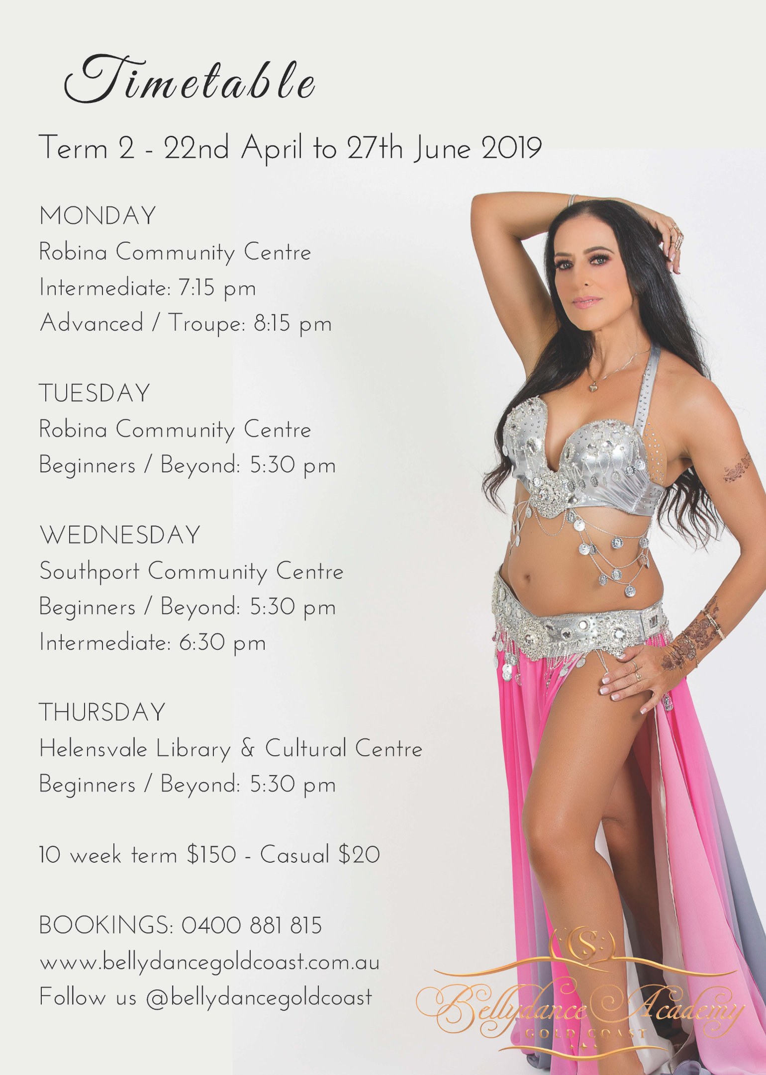 Belly Dancing Classes Term 2